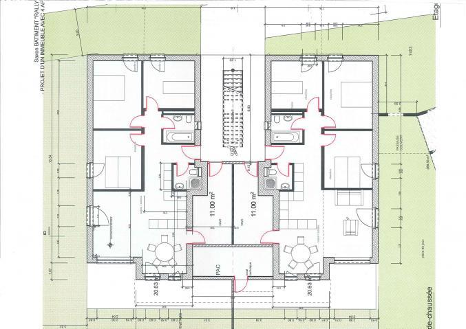 plan rez de chauss e. Black Bedroom Furniture Sets. Home Design Ideas