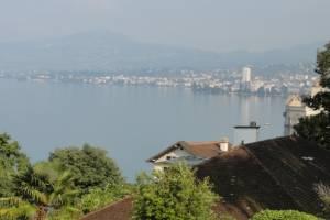 Vue sur la baie de Montreux