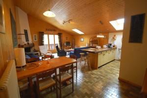 repas - cuisine - séjour avec cheminée