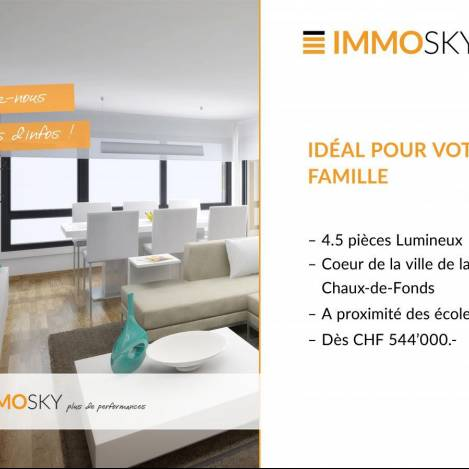 Flat For Sale In 2300 La Chaux De Fonds