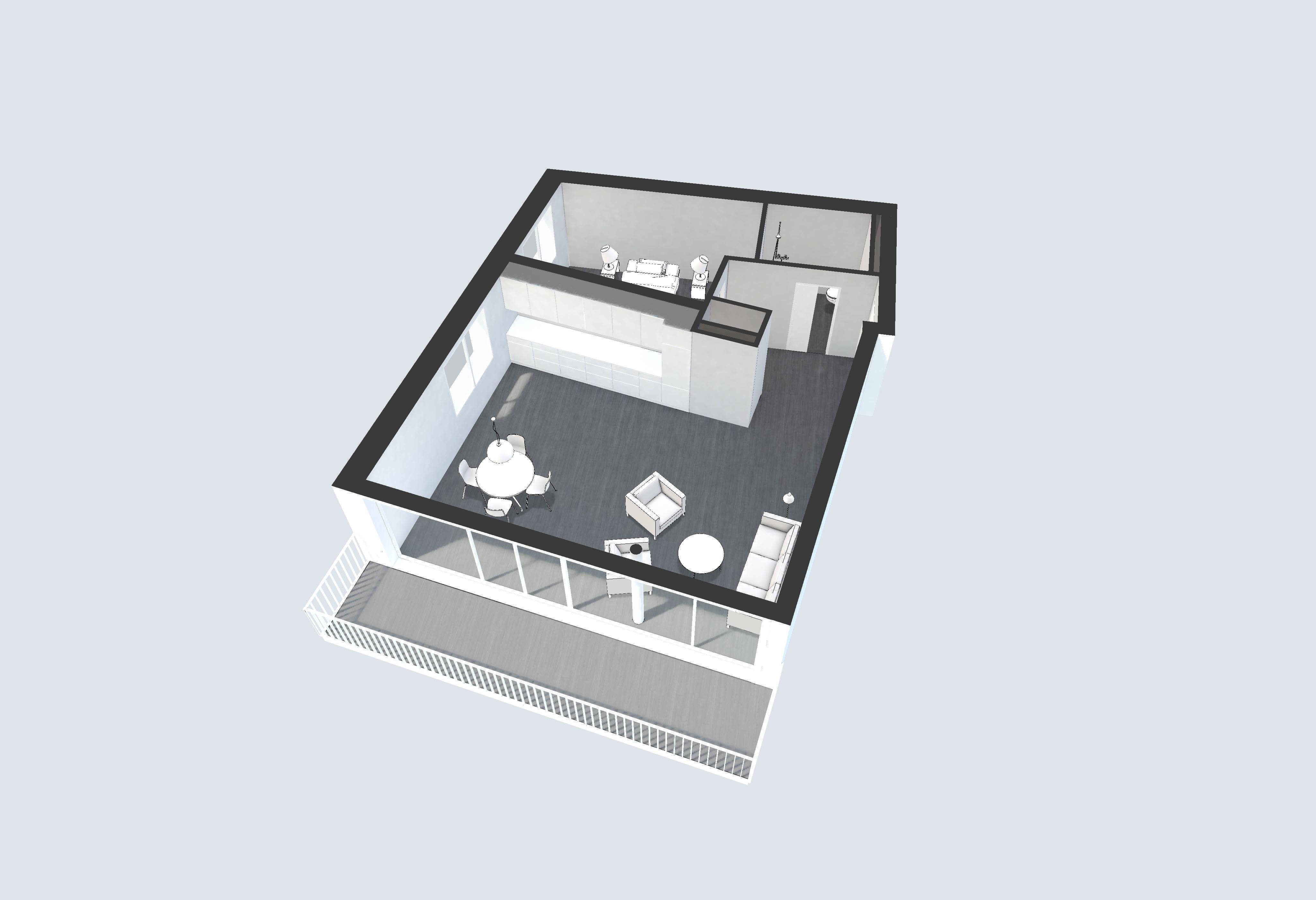 Plan appartement 3D