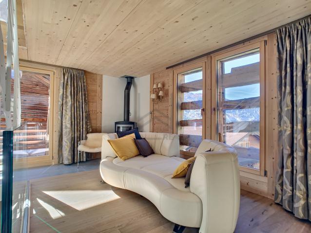 Salon avec poële à bois