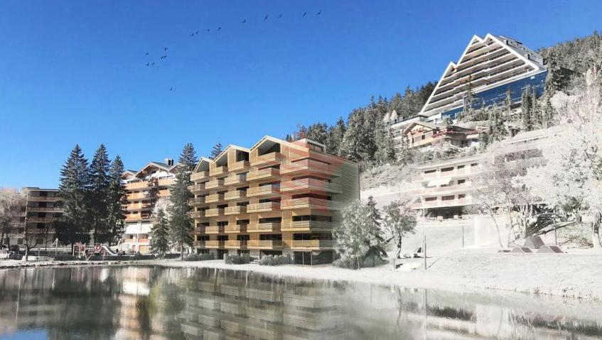 Vue façade sud-ouest hiver