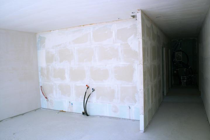 Vue intérieure cuisine en construction