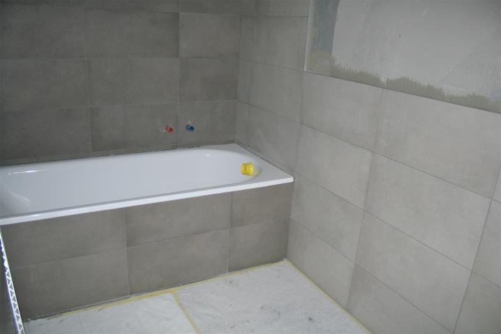 Salle de bain en finition