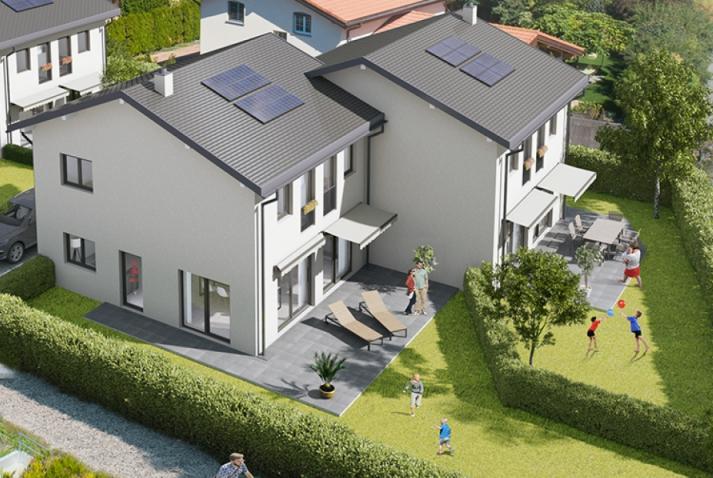 Vue 3D de 2 villas