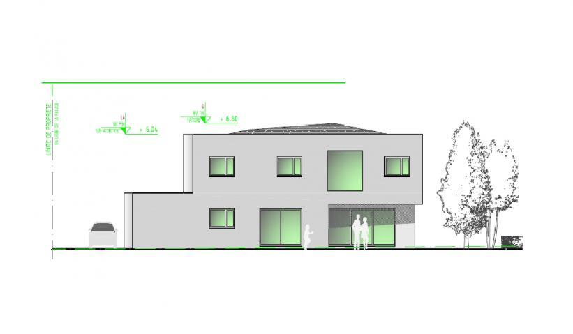 Façade Ouest villa individuelle