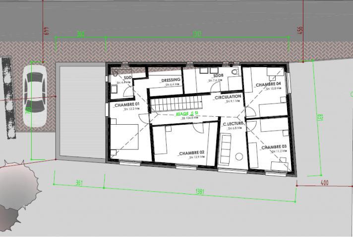 Plan Etage villa individuelle