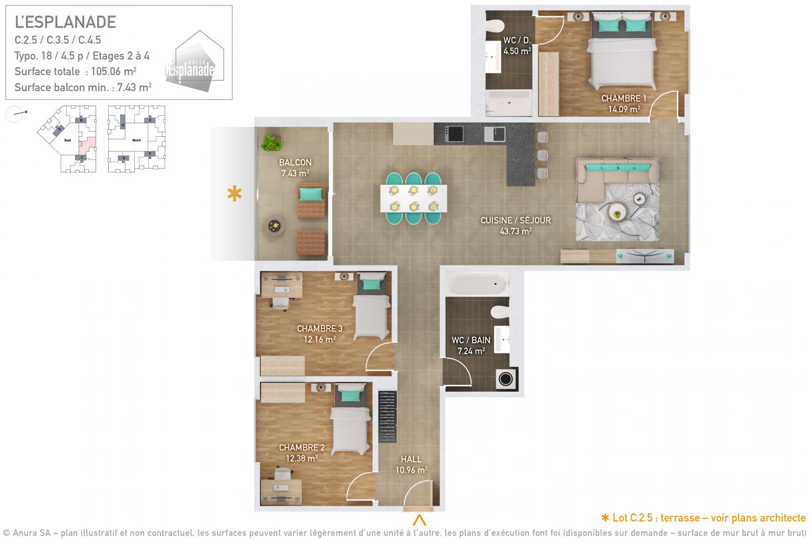 Plan lot Plan 3D Typo 18