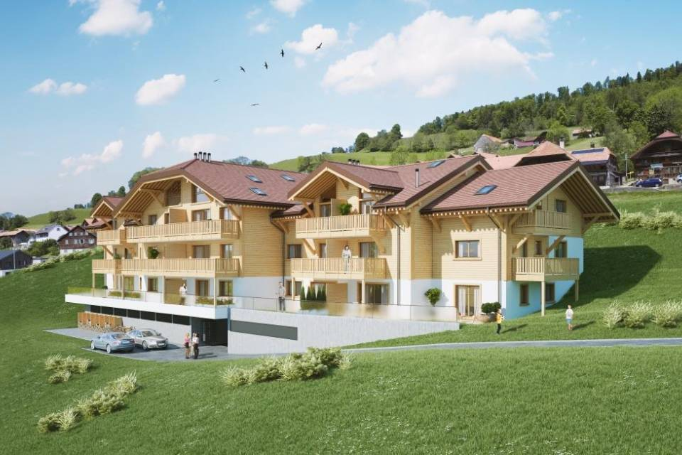 Châtel-sur-Montsalvens / Apartment of 3.5 rooms
