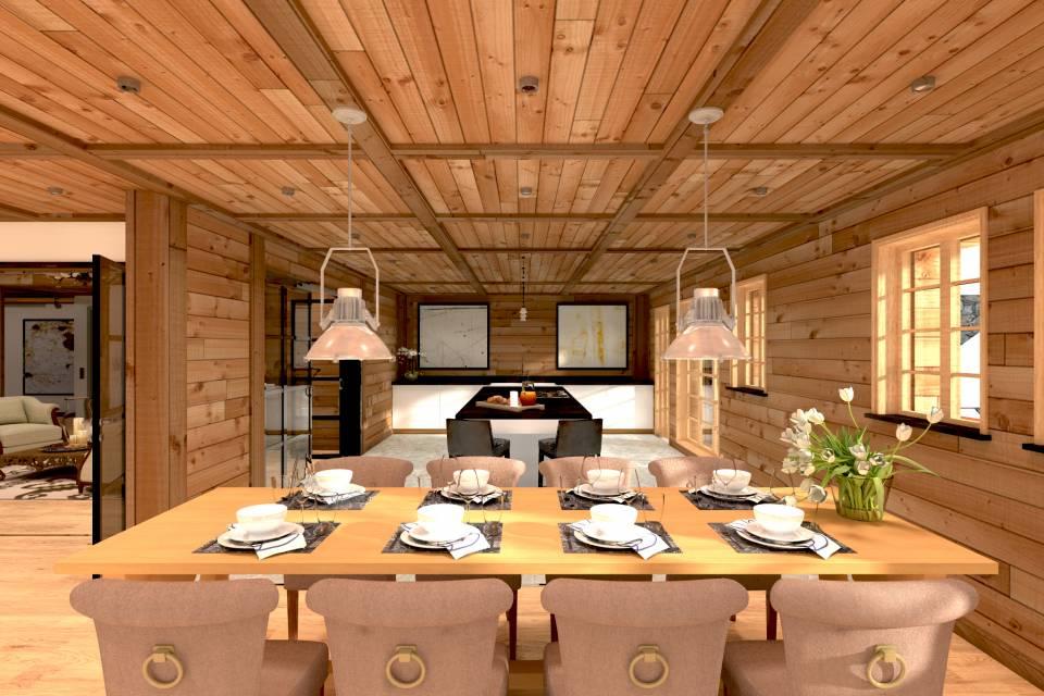 Chaleureuse salle à manger