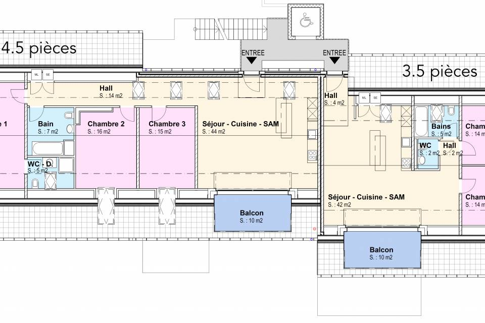 Fontaines NE / Appartement de 3.5 pièces