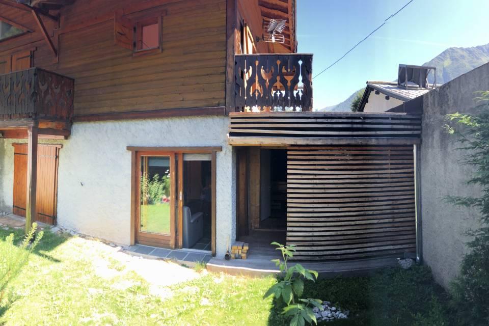 Jardin et sauna