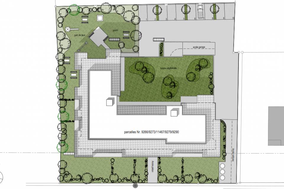 Exterior landscaping plan