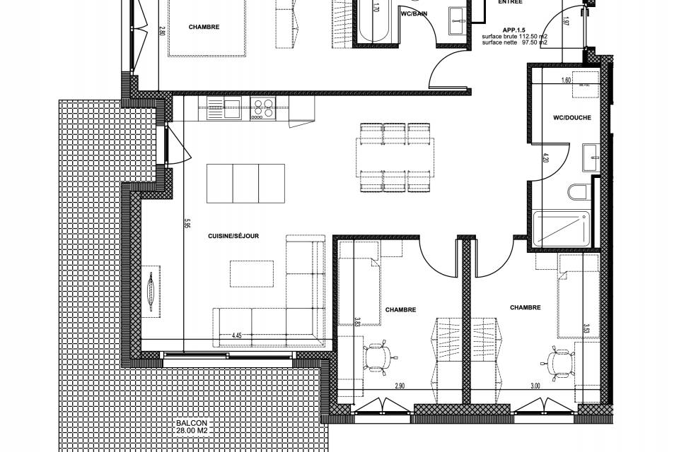 Plan Apartment 1.5