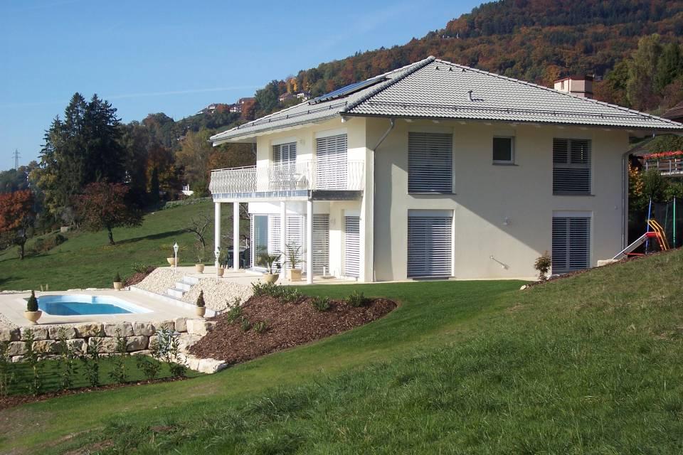 Villa jumelle par garages 5.5 pièces à Gingins