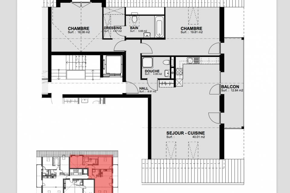 Mannens / Appartement de 3.5 pièces