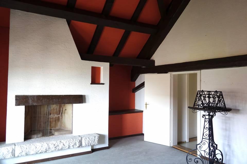 2ème étage chambre avec balcon et cheminée (combles)