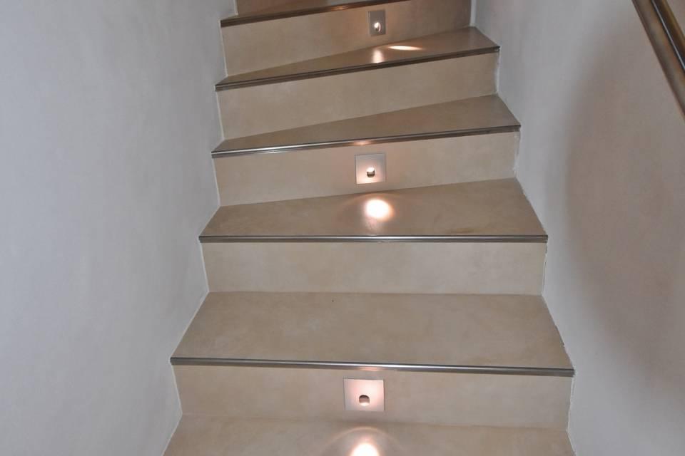 L'escalier conduisant à l'étage