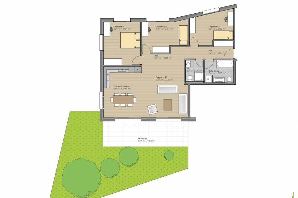 St-Imier / Appartement de 4.5 pièces