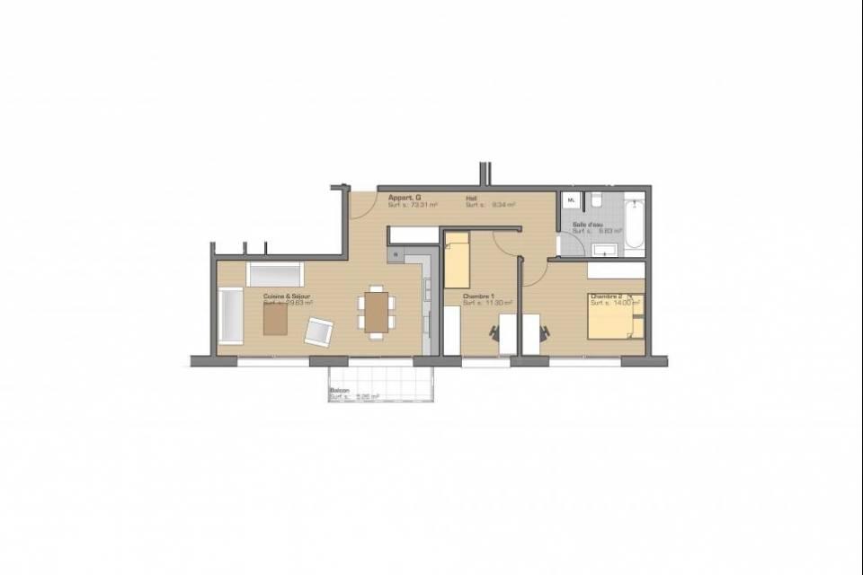 St-Imier / Appartement de 3.5 pièces