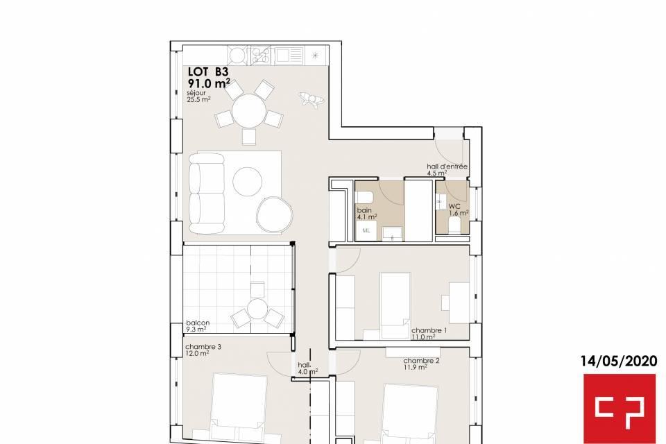 Appartement 4.5 pièces à Charrat
