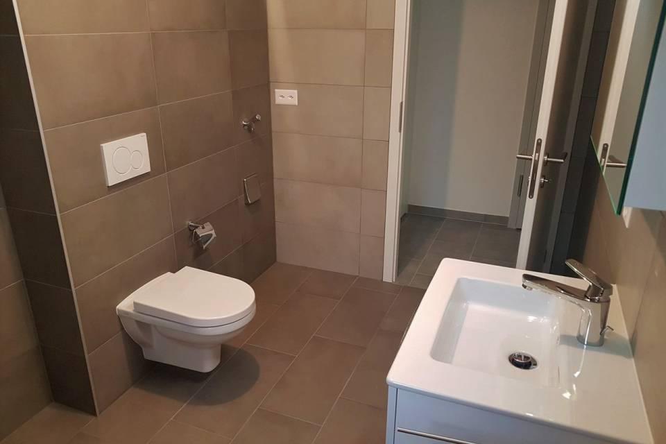 Exemple finitions salle de bains