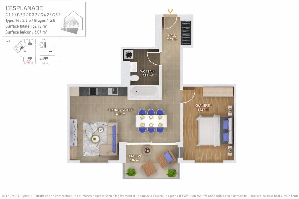 Plan 3D Typo 14
