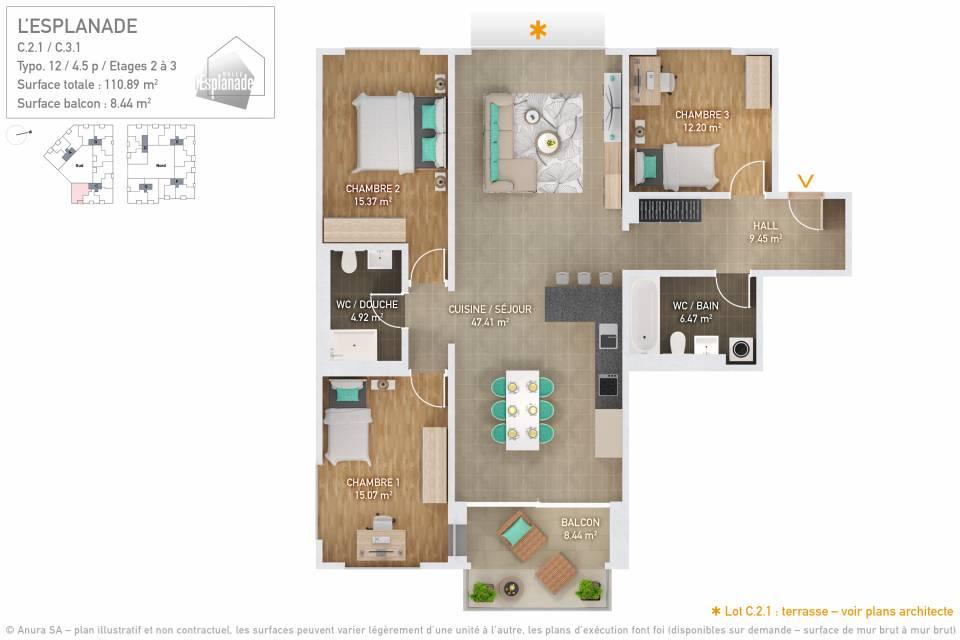 Plan 3D Typo 12