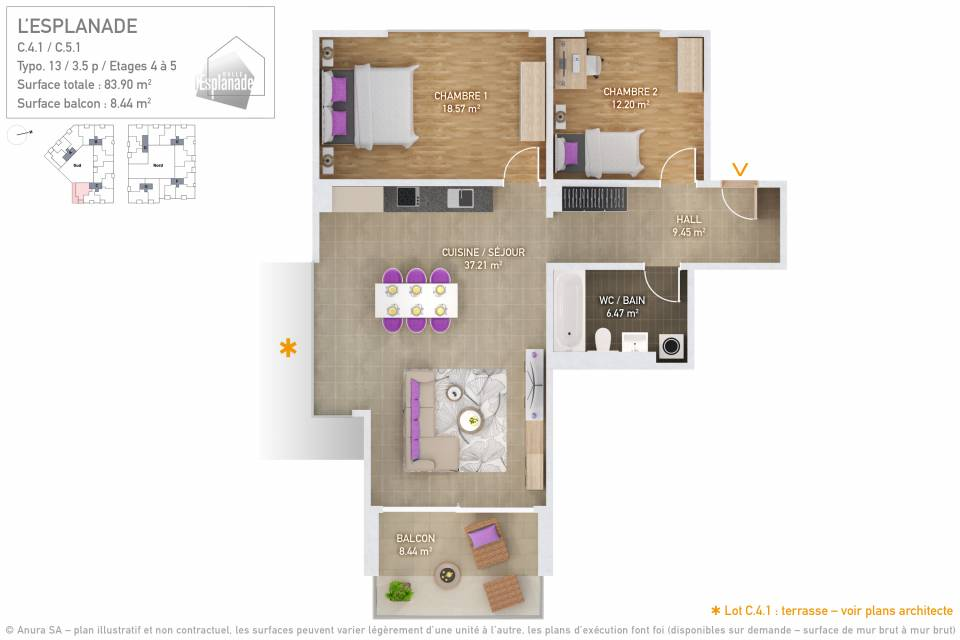 Plan 3D Typo 13