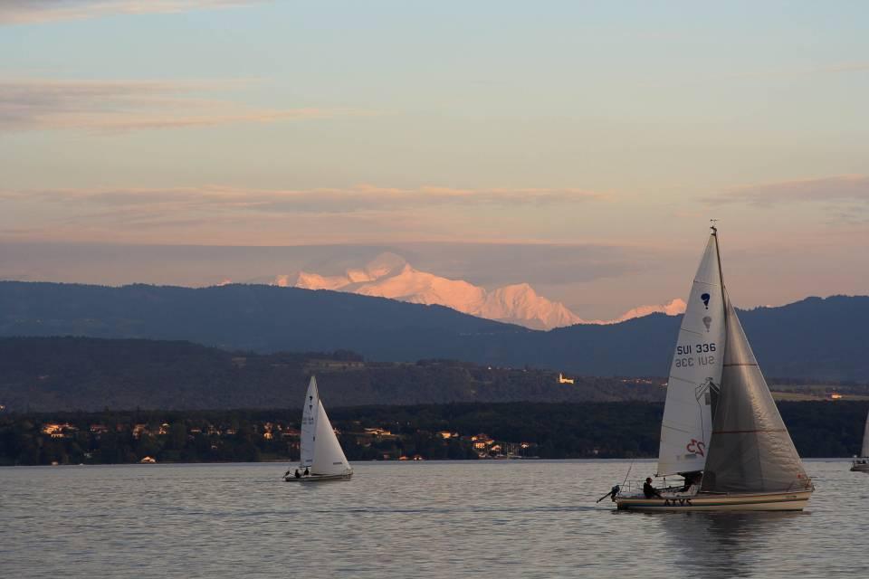 Vue lac et Mont-Blanc