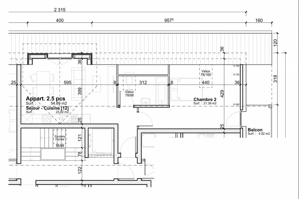 Mannens / Appartement de 2.5 pièces