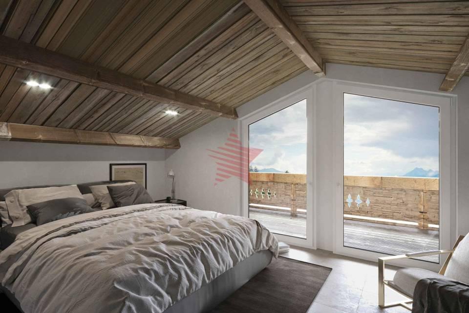 3D chambre de l'attique