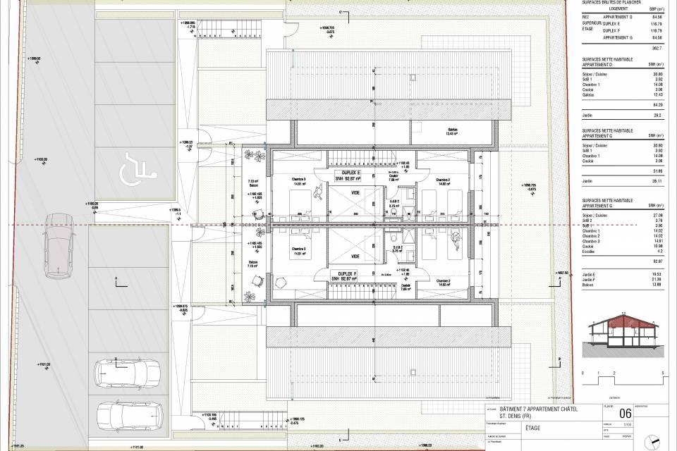 Plan détaillé 1er étage
