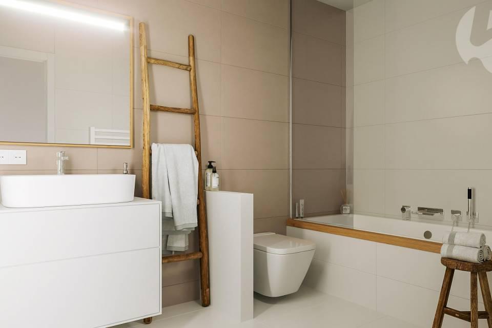 Salle de bain étage, villa mitoyenne