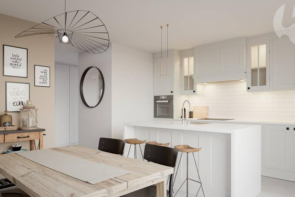 Cuisine villa d'angle 20 m2 (lot C5)