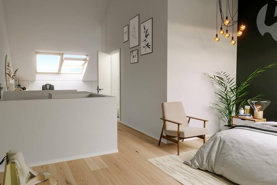 Etage parental de 43 m2, côté chambre