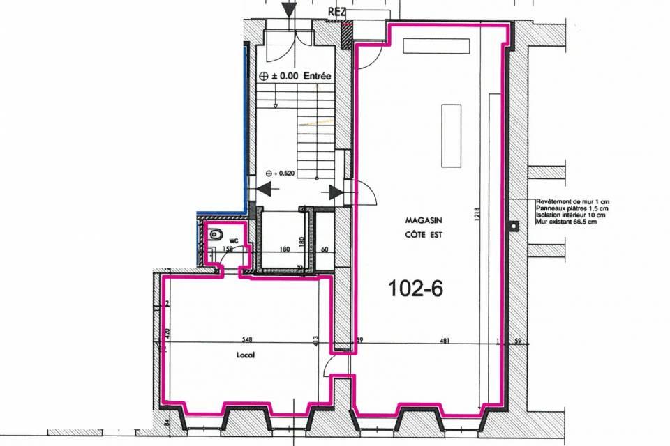 Arcade/Vitrine/Boutique 2 pièces 87 m2 à St-Imier