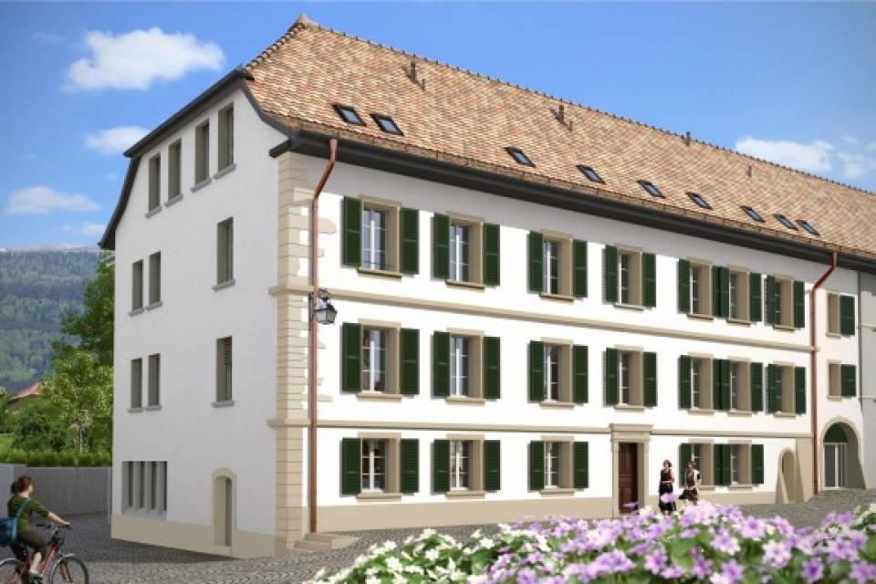 Bâtiment historique rénové coté ouest