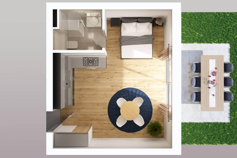 Gimel / Appartement de 1 pièces