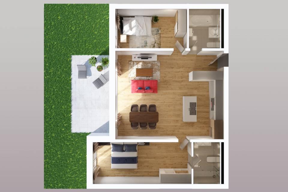 Gimel / Appartement de 3.5 pièces