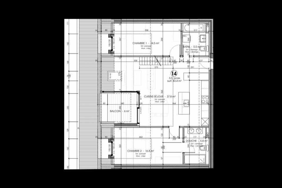 Lot 14 plan inférieur