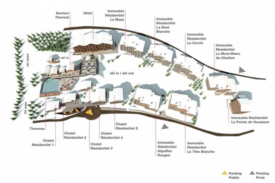 Plan du Dixence Resort