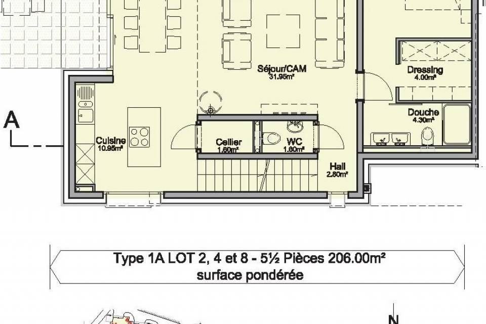 Villa mitoyenne 5.5 pièces à Choëx