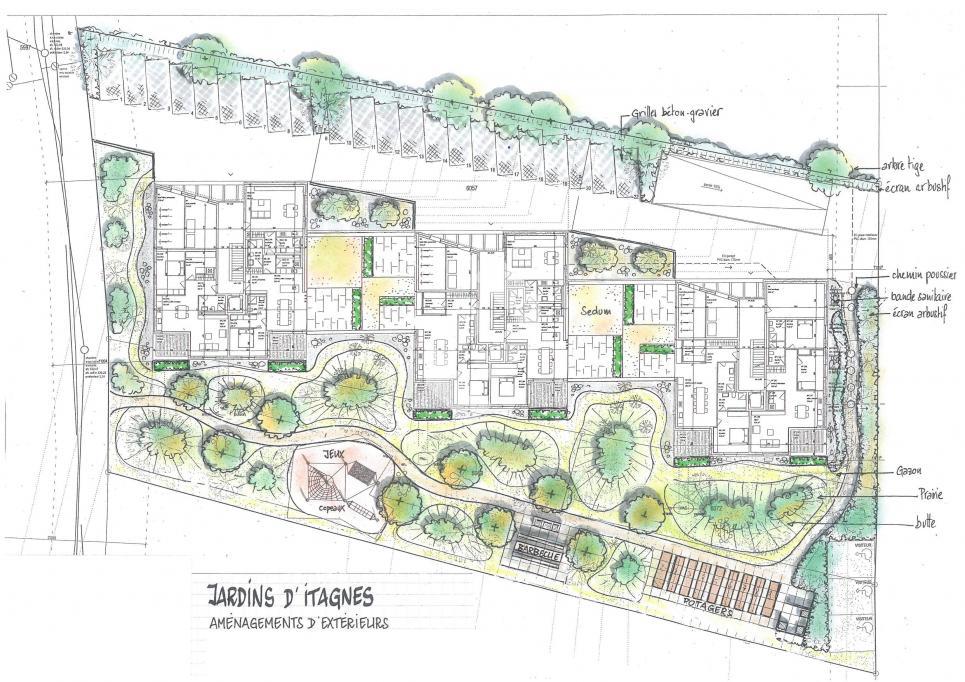 3 résidences avec 9 appartements chacun et parking souterrain