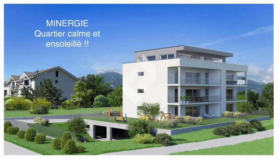 Magnifique 4.5 pcs en rez-de-jardin - MINERGIE !!