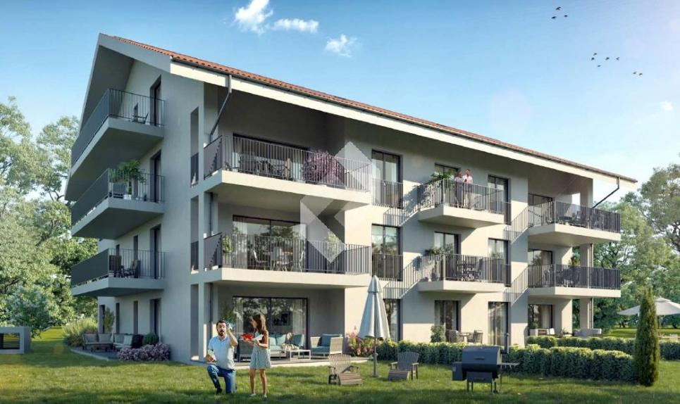 Appartement 2.5 pièces de 72 m2 habitable avec terrasse et Jardin de 140 m2