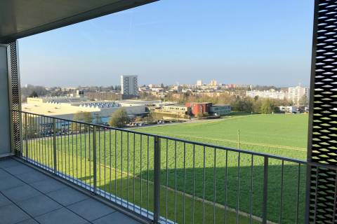 Generous balcony with open views