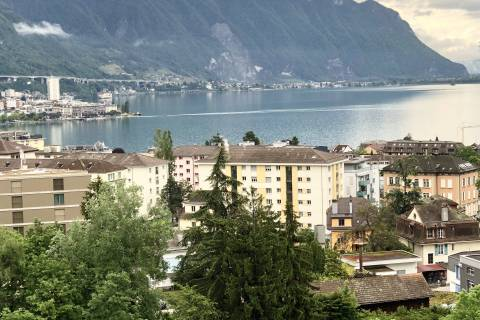 Lake view and Montreux bay